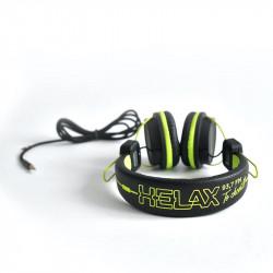 HELAX sluchátka - zelená,...